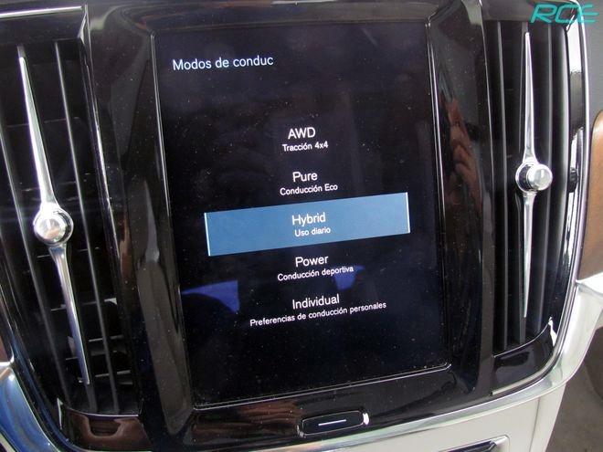 Perfiles de conducción Volvo V90 T8 Twin